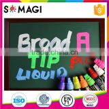 fantastic Bullet And Chisel Nib and Dry-Erase & Wet-Erase chalk marker with fluorescent Colors