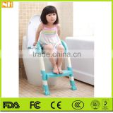 Hot Selling Plastic Comfortable Folding Children Baby Toilet Seat , Children Pedestal Pan