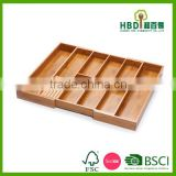 Hot new products for 2016 wood bamboo drawer organizer kitchen drawer organizer, custom drawer organizer wholesale