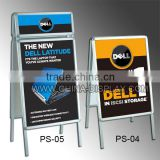 A1 double side A shape advertising wholesale sandwich aluminum snap frame poster board stand