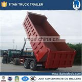 Tractor tipper/ 20-50cbm 2&3 axles rear end dump trailer hydraulic cylinder dump trailer/used trailer tipper trailer