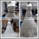 Lace StrapLess Mermaid Custom Made Floor Length Formal Bridal Dress Vestidos De Novia BW072 real pictures wedding dress china