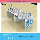 High quality MDF mobile phone display cabinet/showcase