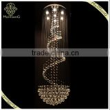 2016 Modern Style Double Staircase Luxury Crystal Chandeliers In The Rotating Floor Of The Stairs Long lamp, Round Light
