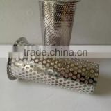YS high quality 304/316 Stainless Steel Perforated Mesh Filter Cylinder/ Metal Tubes/Pipe Strainer