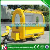 Electric mobile fast food cart with frozen yogurt machine with wheels