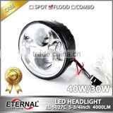 "40W 5.75"" LED motorcycle headlight Harley projector headlight H4 for Harley universal headlamp replacement kit"