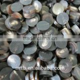 Natural india buffalo horn button blank for coat