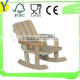 2015 china supplier wholesale natural wood decoration rocking chair
