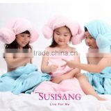 Children Christmas Gift Super Soft Close Skin Friendly Microfiber Children Coral Fleece Bath Towel