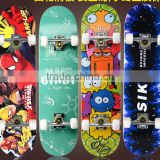 water thermal transfer 4 PU Wheel Maple Sport Skateboard Good reputation 9 Plies longboard skateboard cheap