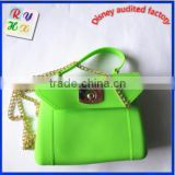 Wholesale,New Product Silicone Handles handbag FDA & SGS approved waterproof candy color silicone beach bag