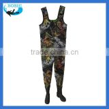 Breathable neoprene boots chest fishing wader suit