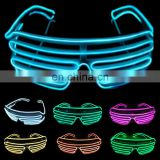 El glasses glow light up Shutter EL Wire party glasses