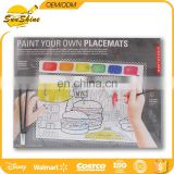 cartoon designed water paint coloring booklet and Placments