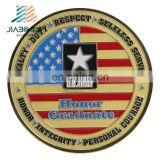 Custom gold coins medallion American army logos metal challenge coin