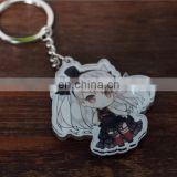 Wholesale cartoon plastic custom printed acrylic keychain