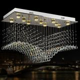 Popular Crystal Pendant Light LED Decorated Chandeliers for hotel hall