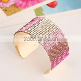 20 color in choice crystal wrap bracelets/Mesh stardust bracelets Fashion jewelry 2015 Pulsera para novia