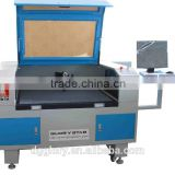 co2 laser cutting equipment/laser engraver machine with Video Camera for computerized woven label, embroidery made in china