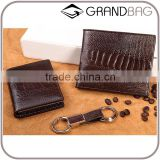 High Quality Custom Genuine Real Ostrich Leg Leather Small Wallet for men