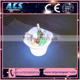 ACS champagne led ice bucket, led square ice bucket, ice buckets for beer