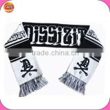 Designer scarf wholesale ,winter acrylic knitting jacquard scarf with your own brand name