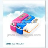 1800-3000mAh protable charger power bank supply with candy color MP018