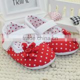 red baby socks Baby Toddler shoes shoes red dot flower soft bottom baby shoes