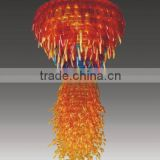 Modern orange glass pendant lamp, Hand Blown glass pendant light for chandelier RT8021-3