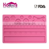 Silicone Fondant Cake Embossing Decorating Baking Mold Silicone bowknot botton fondant mould