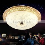 60W Modern Luxury LED Crystal Ceiling Light Living Room LED Absorb Dome Light SMD Double-Color