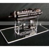 StarWars Biker Scout blaster acrylic display stand clear base with engrave