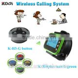 wireless waiter call system for restaurants smart watch wireless service bell system table ordering system