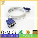 Up to 100 meters length vga cable male to male extension vga to vga cable