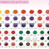2015 best selling Nail art design 3D sculpture UV gel for nail decoration China factory