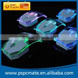 Computer Transparent Colorful LED Wireless Mouse