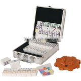 Hot selling plastic domino set in aluminum box