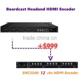8/12Channel 1080p hdmi to iptv streaming encoder,mpeg-ts udp/rtp ip