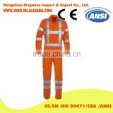 2016 New work clothing fluorescent reflective stripe coveralls men working clothes road safety clothing uniform workwear