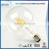 Dimmable Warm White E27/E26 G125 filament Led Bulbs/Lights/Lamps 4w 6w 8w for american market                                                                         Quality Choice                                                     Most Popular