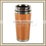 400ml stainless steel wooden coffee mug / bamboo coffee mug