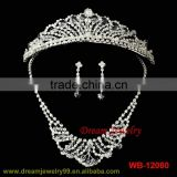 hot sale new designs wholesale fashion bridal wedding crystal silver high quality jewelry set