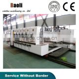 automatic flexo printing carton box slotting die cutting machine with stacker