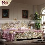France style bedroom furniture-teak hand carved furniture king size bed                                                                         Quality Choice