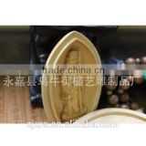 Boxwood carving Buddha incense incense box Buddha box Shichifukujin topiramate Salmonella days