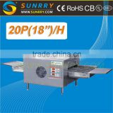 "Hot sale energy saving Belt 20 Pizza 18""/Hour industrial bakery conveyor pizza oven used for sale with high quality"