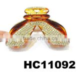 wholesale plastic hair claw clips crystal hair accessories