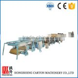 three layered five layered corrugated paperboard production line
