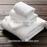Plain Style White Color 100 Percent Cotton Hotel Towel